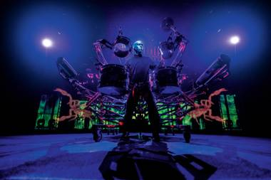 All kinds of instruments create all kinds of music in the Blue Man Group's show.