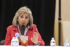 U.S. Rep. Dina Titus, D-Nev., talks about the proposed nuclear storage waste facility at Yucca Mountain during a panel hosted by the Nevada Conservation League at the East Las Vegas Community Center in Las Vegas on Thursday, Sept. 5, 2019.