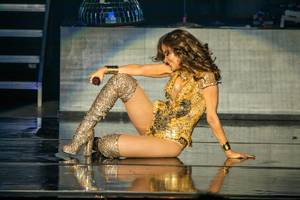 Gloria Trevi performs at the Zappos Theater