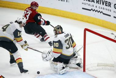 It was not a pretty night in hockey's other desert city for the Vegas Golden Knights. They lost the special teams battle, they lost their goalie and they lost the game, 4-1 to the Arizona Coyotes at Gila River Arena on Thursday ...