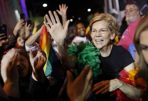 Warren at Pride Parade